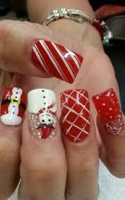 easy christmas nail art design xmas poinsettia flower nails new