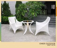 Rattan Bistro Table Fashion White Wicker Bistro Furniture 3 Pieced Table And Chairs
