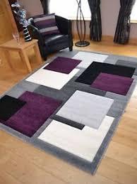 modern silver floor l modern thick soft quality lt silver grey purple floor mat rugs long