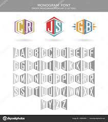 create monogram initials initials logo font for building 2 letter logos monogram letter
