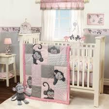 Pink And Brown Damask Crib Bedding Furniture Pink And Taupe Damask Crib Bedding Large 9