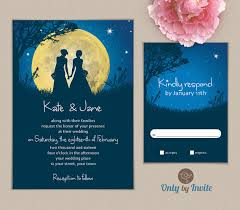 same wedding invitations wedding invitation starry same gender wedding
