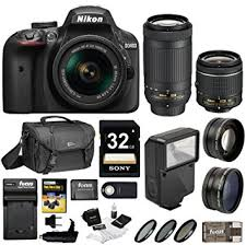 amazon black friday camera amazon com nikon d3400 dslr camera with 18 55mm and 70 300mm