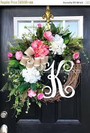 monogram wreath door wreaths for summer on sale wreath for front door