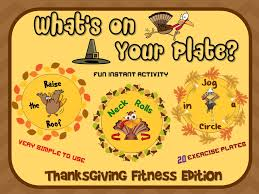 pe activities what s on your plate thanksgiving fitness edition