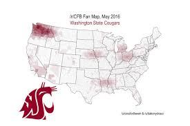 Wsu Map Geographic Maps Of College Football Fan Bases Cougcenter