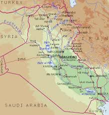 baghdad on a map baghdad map