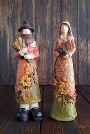 pilgrim figurines thanksgiving decor s handiworks the