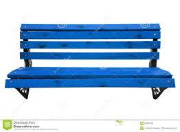 Wooden Park Bench Wooden Park Bench Light Blue Stock Photo Image 84830163