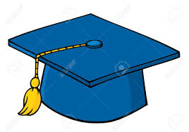 blue graduation cap blue graduation cap royalty free cliparts vectors and stock