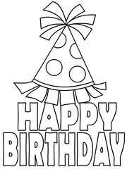 printable birthday cards that you can color free printable birthday cards to color free clipart