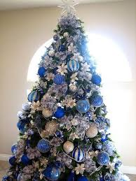 Small Decorated Christmas Trees Pinterest by 53 Best Blue And Silver Christmas Trees Images On Pinterest