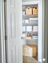 linen closet bathroom with closet design elegant organized bathroom linen