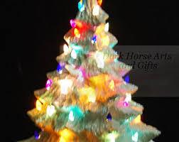 white christmas ceramic christmas tree 16 inches
