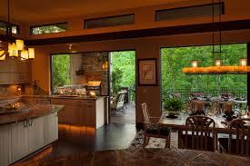 indoor kitchen indoor outdoor dining contemporary kitchen charlotte by