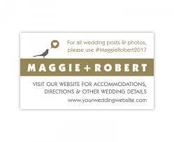 wedding website registry wedding website card in gold and silver gray wedding enclosure
