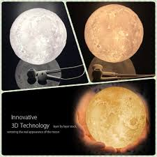 3d Lamps Amazon Night Light 3d Moon Lamp Touch Dimmable Warm Cool Brightness