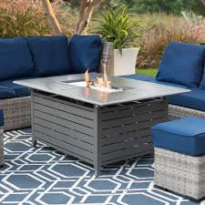 alderbrook faux wood fire table red ember longmont 50 x 38 in rectangle gas fire pit charcoal