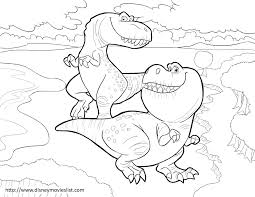 disney u0027s the good dinosaur nash and ramsey coloring page the