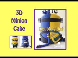 Despicable Me 3d Minion Cake How To Make Youtube