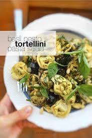 basil pesto tortellini pasta salad recipe simple tasty good