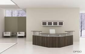 Office Furniture Reception Desks Corner Reception Desk Modular Glass Laminate Modern