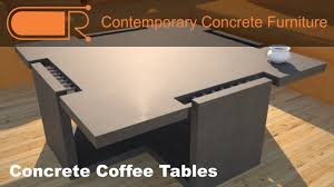 concrete and wood coffee table concrete coffee table concrete furniture designs by rudy youtube