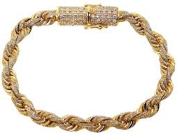 gold chain rope bracelet images Mens diamond rope bracelet solid 10k yellow gold 8 12 ct 7 mm 8 quot jpg