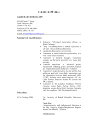 Resume Sample Template by Chronological Geologist Resume Example Template