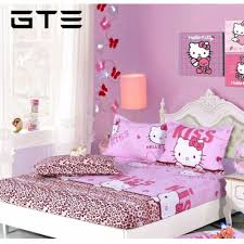 gte 3 in 1 queen size bed sheet hello kitty lazada malaysia