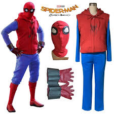 new spider man homecoming homemade suit spiderman cosplay hoodie