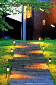 unusual outdoor led garden stair lights artenzo