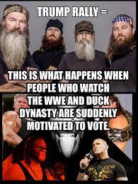 Duck Dynasty Memes - trump rally duck dynasty imgur