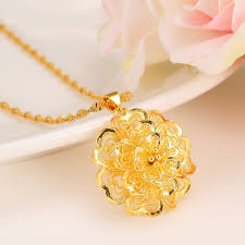diy necklace charms images Women necklace gold necklace flower pendant pendant africa jpg