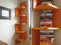 Build Corner Bookcase Make Your Reading Room Beautiful With The Corner Bookshelves