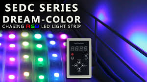 rgb led light strips dreamcolor chasing color changing rgb controller u0026 light strip