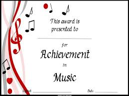 music certificate templates 9 best certificates images on