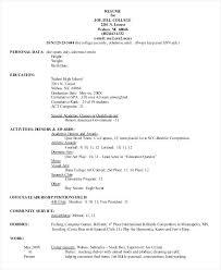 College Admission Resume Builder Sample Resume Format For High Students High Resume