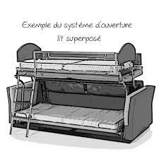 canape lit superpose canapé lit design avec système lit superposé ton canape convertible