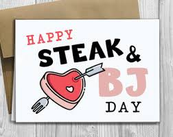 Steak And Bj Meme - meat card etsy