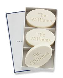 personalized soap williams sonoma home monogrammed oval soaps set of 3 williams