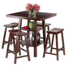 Dining Room Sets Orlando by 5 Piece Orlando Set High Table 2 Shelves With Counter Stools