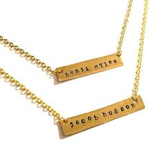 Nameplate Necklaces Hand Stamped Double Nameplate Necklace U2013 Made By Mills