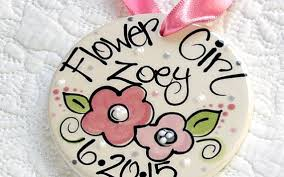 flower girl ornament jewelry personalized flower girl ornament 2322028 weddbook