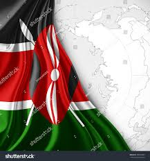 Kenya Africa Flag Kenya Flag Silk World Map White Stock Illustration 288039884