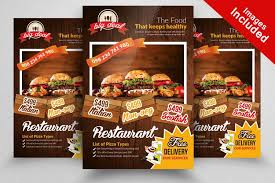 menu flyer template restaurant menu flyer template by desig design bundles