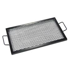 Cooking Over Fire Pit Grill - amazon com sunnydaze x marks rectangle fire pit cooking grill