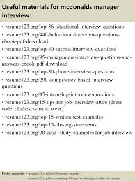 Mcdonalds Resume Skills Top 8 Mcdonalds Manager Resume Samples