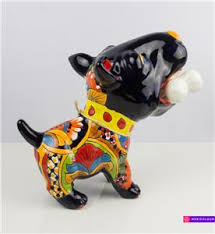 american pitbull terrier figurines bull terrier bully dog talavera pottery statue sculpture mexican