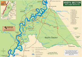 Zambia Map Nsfeu Sector South Luangwa National Park Map U2022 Mappery